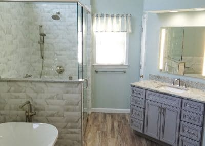 Master Bathroom with Aqua Tones