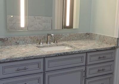 Grey Cabinet in Master Bathroom