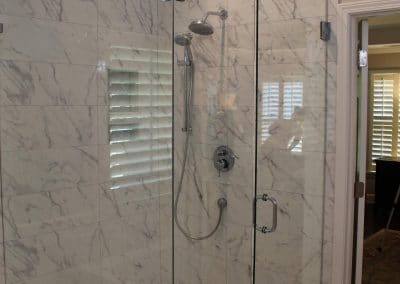 Marble Look Porcelain in Shower