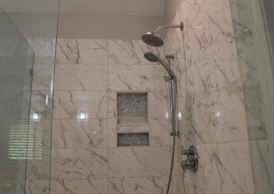 Marble Look Shower Design