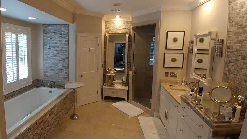 Master Bathroom Accent Walls