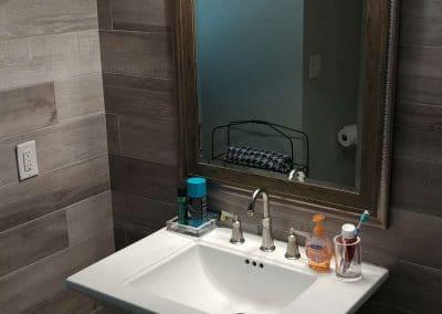Pedestal Sink in Guest Bathroom