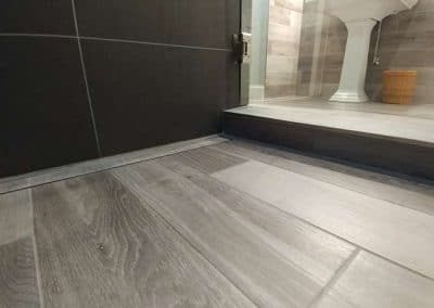 Shower Floor with Linear Drain