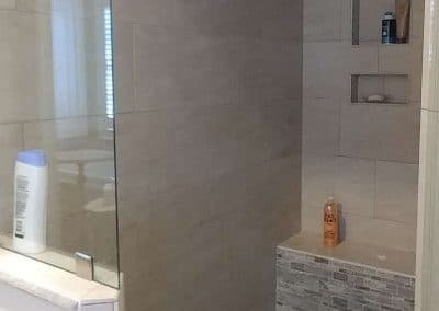Travertine Mosaic Shower Floor