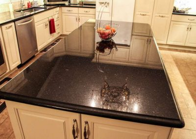 kitchen countertop black galaxy