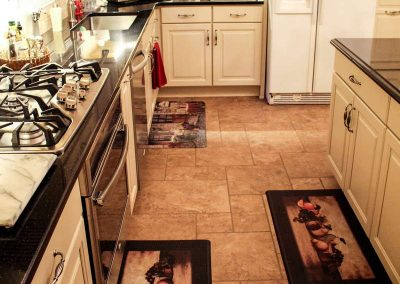 kitchen floor french pattern