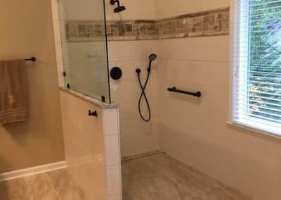 After - Walk in Shower Design